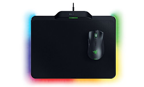 Razer Mamba HyperFlux - Pack con ratón inalámbrico para gaming y alfombrilla de carga Firefly HyperFlux (sensor óptico 5G de 16 000 ppp reales, Razer Chroma, 16.8 millones de colores, ultraligero)