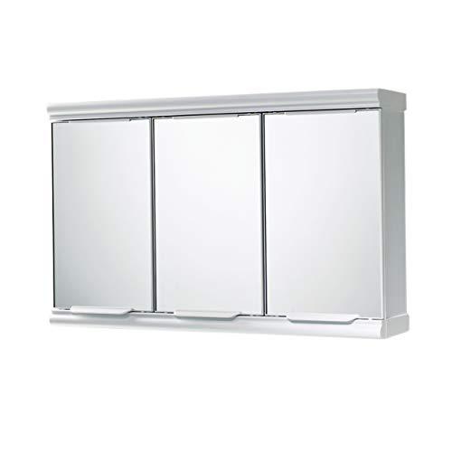 Gedy 80470200000 Armario con Tres Puertas, Blanco, 58.5x14x38 cm
