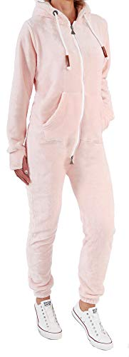 Finchgirl F2001 Damen Jumpsuit Teddy Fleece Rosa Gr. M