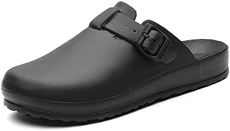 Yuxahiugtuox Mens Sandles, Men Shoes Safety Closed Toe Clogs Slippers Work Slides for Women Unisex (Color : Black, Shoe Size : 45)