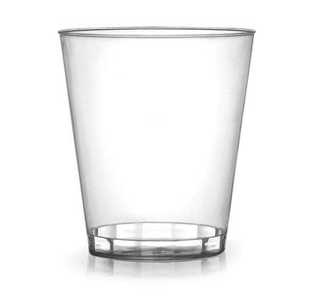 Paquete de 40 vasos de plástico transparente | Vasos de plástico cristalino para fiestas - 220 ml (8 oz)