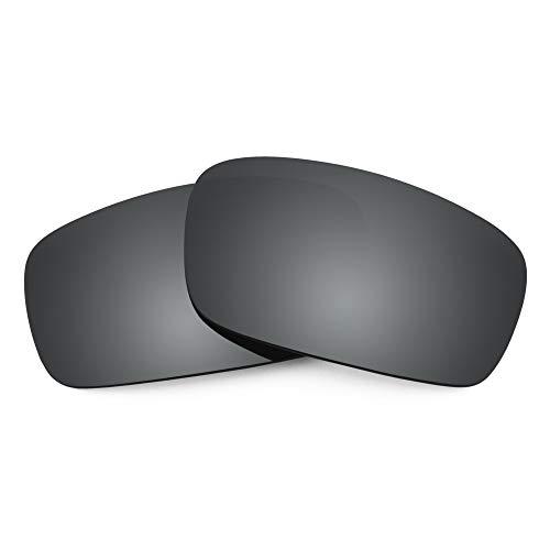 Revant Lentes de Repuesto Compatibles con Gafas de Sol Oakley Crankshaft, Polarizados, Negro Cromado MirrorShield