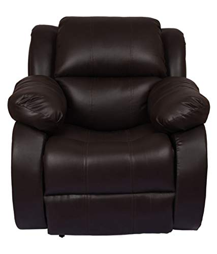 WellNap Motorized Recliner Specially for Senior Citizens with Push Button Technology (Dark Brown)