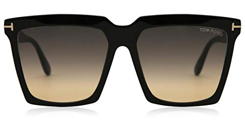 Tom Ford Gafas de Sol SABRINA-02 FT 0764 BLACK/GREY SHADED 58/16/140 mujer