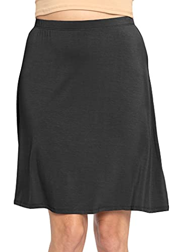 Stretch is Comfort Women's A-Line Skirt Black Large