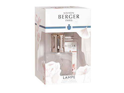 Maison Berger Paris Duftlampe 4677 Aroma Relax Geschenk Set + 180 ml Parfum + 1 Stück HEVO® Feuerzeug Gratis