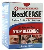 BleedCEASE Spasm price First Aid Branded goods for Cuts 2 Sterile Nosebleeds Packings and