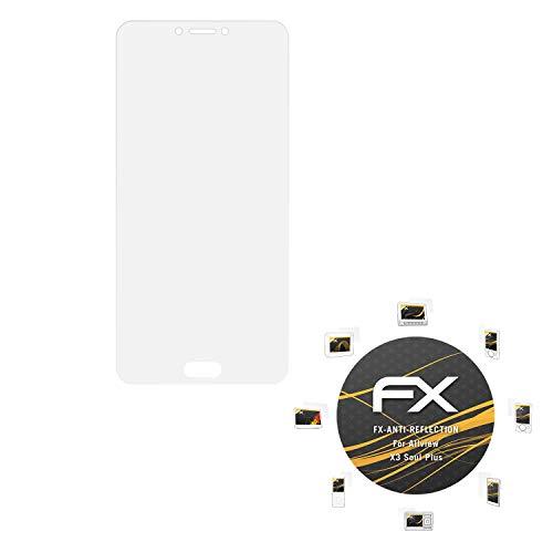 atFolix Panzerfolie kompatibel mit Allview X3 Soul Plus Schutzfolie, entspiegelnde & stoßdämpfende FX Folie (3X)