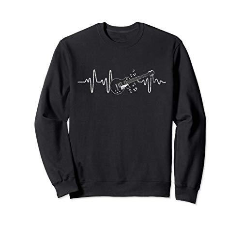 Geschenkidee für Gitarristen - Herzschlag Gitarre Sweatshirt