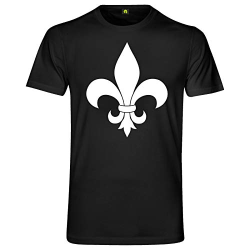 Fleur De LYS T-Shirt | Lis | Flower | Blume | Lily | Lilie | Leben Schwarz M