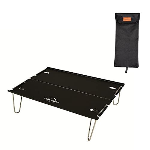 lossomly Mesa de picnic de aluminio portátil, mesa de camping plegable, portátil y plegable para picnic, jardín, patio, playa, pesca, senderismo, barbacoa