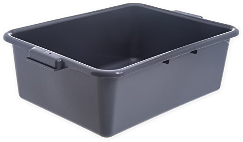 "Carlisle N4401123 Comfort Curve Ergonomic Wash Basin Tote Box, 7"" Deep, Gray (Pack of 12)"