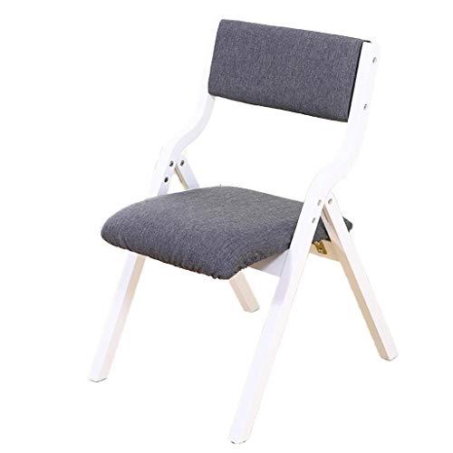 Zhou-WD Houten meubilair, Inklapbare beklede stoel Indoor Country House Terrace Restaurant Cafe eetkamerstoel makkelijk te verplaatsen ontbijt stoel (Color : A11, Size : 48 * 59 * 79CM)