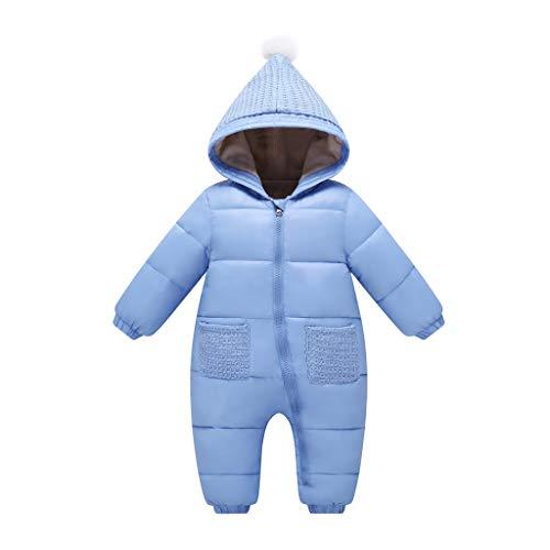 Vine Bebé Mono Niños Niñas Traje de Nieve Invierno Mameluco con Capucha Espesar Peleles Calentito Enterizo Conjunto de Ropa