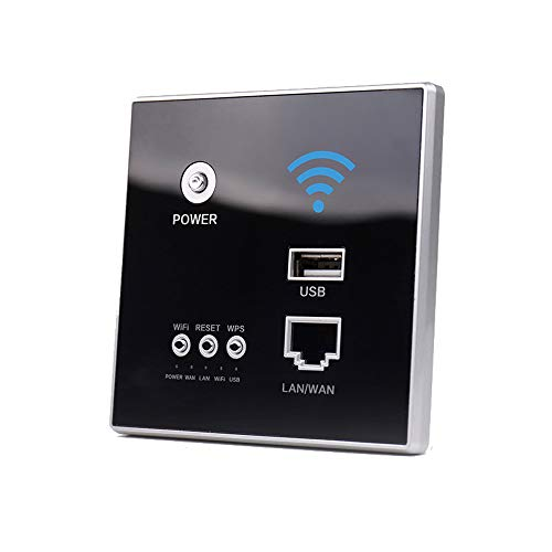 KKmoon WiFi Repetidor Router 300Mbps AP Relay Extensor de Red inalámbrico inteligente Panel de Enrutador Inalámbrico de 2,4 GHz integrado en la pared con conector USB de cinco colores