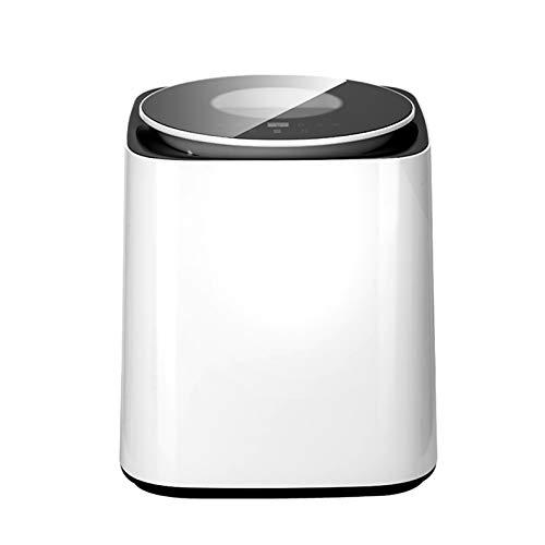 ReedG Mini Lavadora Mini Lavadora de Ropa Interior automática Cocina de Alta Temperatura, Secado y eluyendo Integrado Arandelas portátiles (Color : Black, Size : 36x36x41cm)