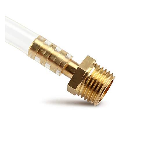 Myouzhen-Accesorio de latón 4 mm 6 mm 8 mm 10 mm 12 mm 19 mm Cola de la manguera de la manguera de 1/8 '1/4' 1/2 '3/8' BSP Conector de Conector Masculino Adaptador de acoplador de cobre, Fuerte resist
