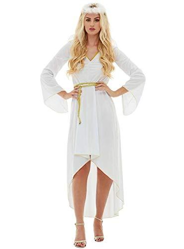 Funidelia   Disfraz de ángel para Mujer Talla M ▶ Navidad, Belén de Navidad - Blanco, Vestido con cinturón