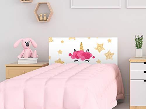 Cabecero Cama PVC Infantil Unicornio 100x60cm | Disponible en Varias Medidas | Cabecero Ligero, Elegante, Resistente y Económico