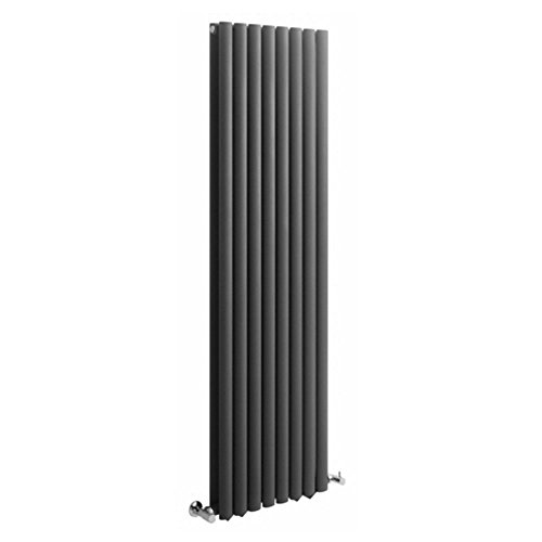 Hudson Reed Vitality – Radiateur Design Vertical – Anthracite – 178 x 47,2cm Double Rang