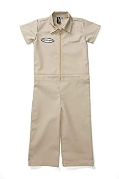 Born to Love Kids Coverall for Boys Mechanic Halloween Jumpsuit Costume Baby Outfit 6t Tan