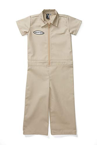 Born to Love Kids Coverall for Boys, Mechanic Halloween Jumpsuit Costume Baby Outfit 6t, Tan