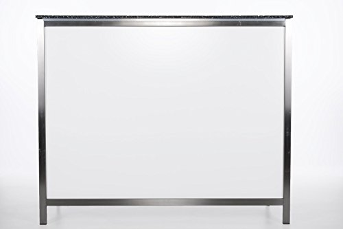 Klappbare Longdrinktheke / Bartresen 1,25m aus Edelstahl