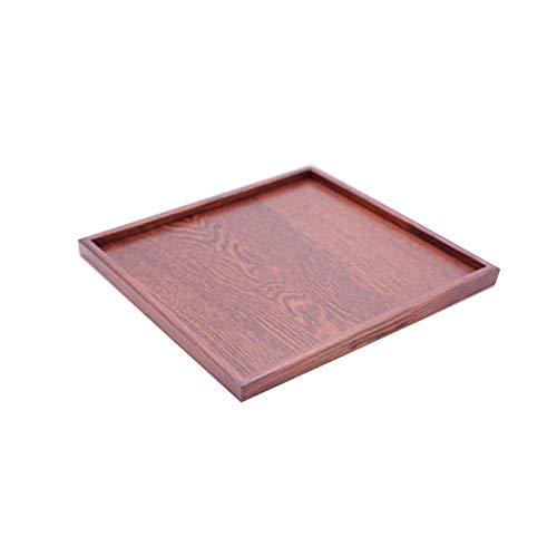 トレー お盆 木製 正角盆 30×30cm 茶 訳あり