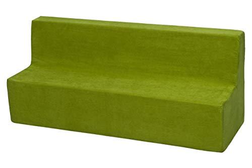 Velinda Kindersofa Kindercouch Spielsofa Softsofa Minicouch Sitzbank Kindermöbel (Farbe: grün)