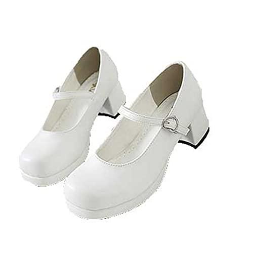 Zapatos Mary Jane para Mujer, Hebilla Retro, Correa, Punta Cuadrada, Zapatos de...