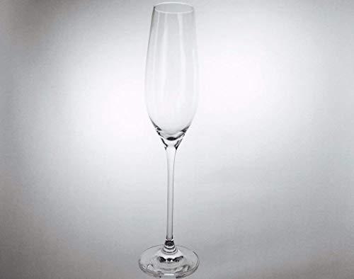 Handgemachte Champagner Flöten, Service von 6 Klein Baccarat Kristallflöten 21 cl, signiert Cristal Klein 54120 Baccarat.