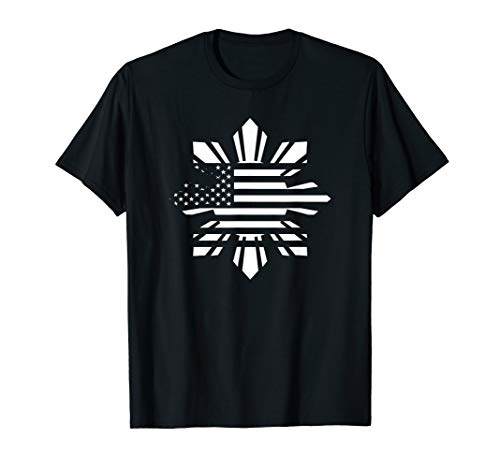 Filipino-American Sun, Stars & Stripes Heritage Flag Gift T-Shirt