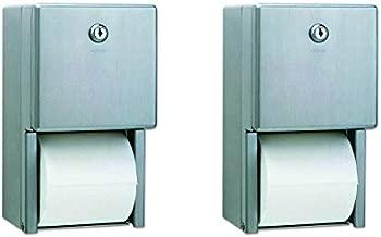 Bobrick B-2888 Classic Series Surface-Mounted Multi-Roll Toilet Tissue Dispenser, Satin (2-(Pack))