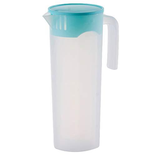 UPKOCH Jarra de plástico para agua fría y caliente, con tapa, color azul