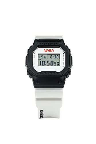 G Shock All Systems Go DW5600NASA21-1 - Reloj para hombre, color blanco y negro