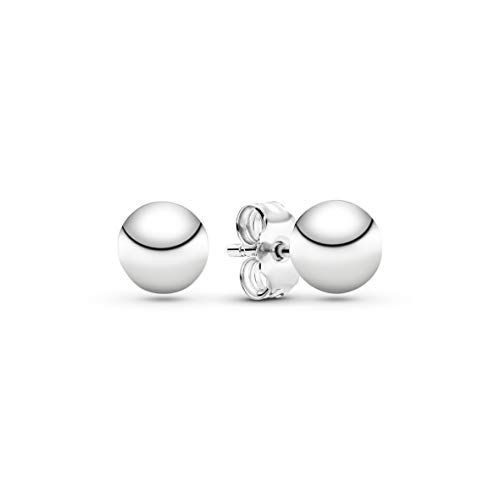 Pandora Women's Classic Metal Pearl Stud Earrings Sterling Silver 297568