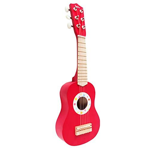 milisten Kinderen Ukelele Kleine Gitaar 4 Snaren Muziekinstrument Educatief Speelgoed Voor Kinderen Kinderen Studenten Volwassenen Beginners (Rood)