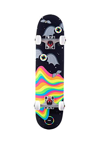 TITUS Skateboard Foam Eyeball Bat Micro Kids : Black-Multi / 6.5 Komplettboard Größe 6.5