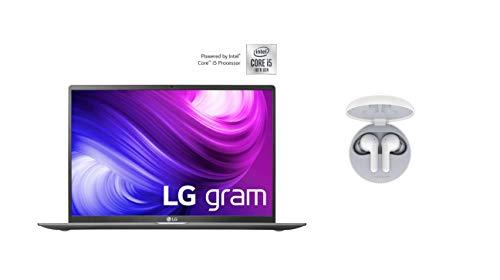 LG Gram 14 Zoll Notebook - Unter 1 kg Leichter Intel Core i5 Laptop (8GB DDR4 RAM, 256 GB SSD, Full-HD IPS Display, Thunderbolt 3, Windows 10 Home) - Dunkelgrau + Bluetooth Kopfhörer HBS-FN4