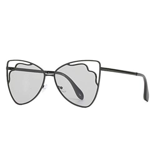 Gafas de sol personalizadas EUROPEO Y AMERICANO Gato de gato de acero inoxidable Gafas de acero inoxidable Toma de calle Color de Océano Color Sunglasses Sombrilla de viaje al aire libre (Color : C)