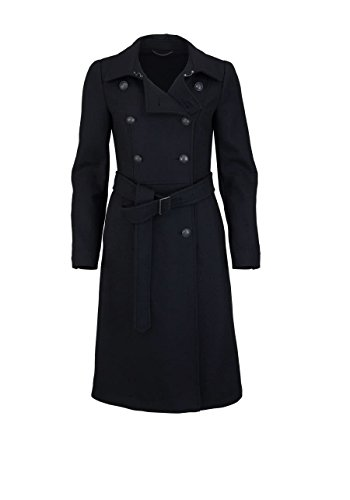 Drykorn Langarm Mantel Newbury Gürtel Zierknöpfe schwarz Größe XS