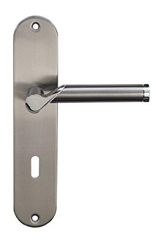 Türbeschlag, Edelstahl Renovierungsgarnitur für Zimmertüren glanzlackiert, Türklinke Türgriff