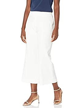 Kasper Women s Crepe Culotte Lined Pant with Side Zip Creme 16
