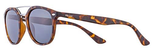 Solar sonnenbrille Miller Männer polarisiert geflammtes Braun