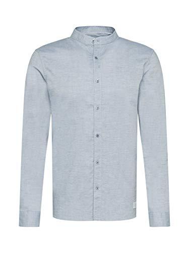 Nowadays Slim-Fit Hemd mit Stehkragen blau (673 Zen Blue) L