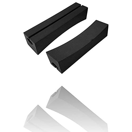 Un par de almohadillas blandas para portaequipajes de techo, portátiles, fáciles de instalar y quitar EVA Soft Oval, barras para portaequipajes de techo de automóvil, para llevar tablas de surf, kayak