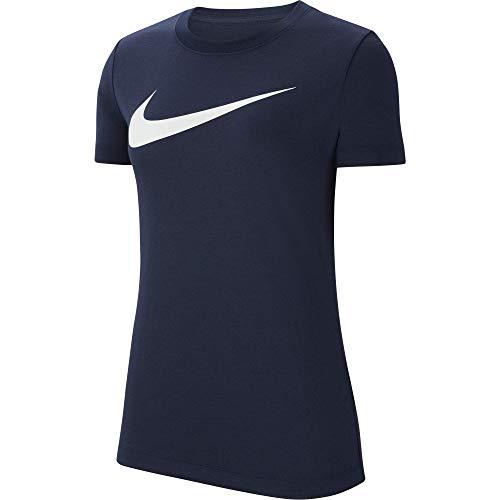 NIKE Camiseta para Mujer Team Club 20 tee, Mujer, Camiseta, CW6967-451, Azul, Blanco, Medium