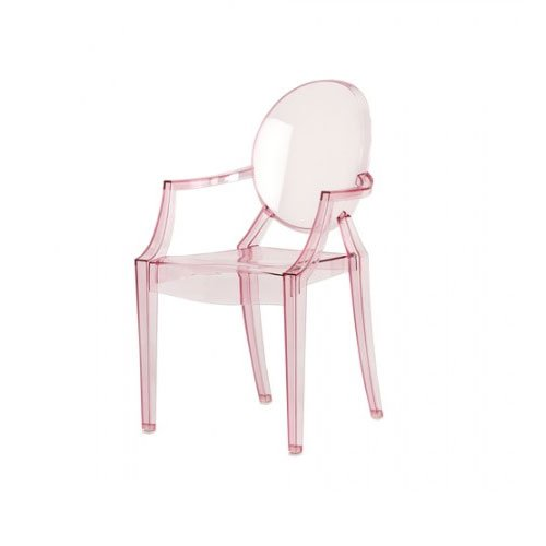 Kartell 2852Y2 Chaise pour enfant Lou Lou Ghost (Rose transparent)