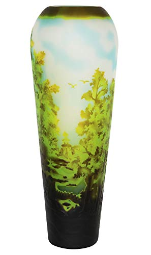 aubaho Vase Replika nach Galle Gallé Glasvase Glas Antik-Jugendstil-Stil Kopie k