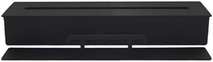 Quemador de acero negro para chimenea de bioetanol con lana di cerámica 2 litros / 40 cm